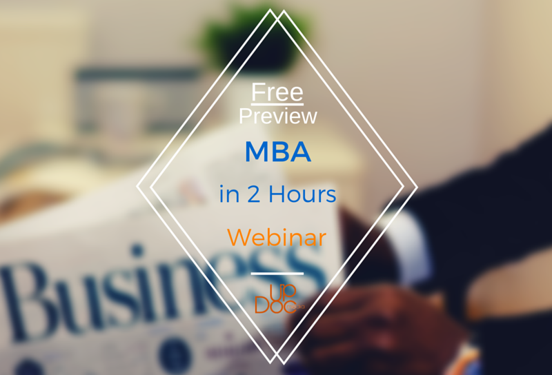MBA in 2 hours webinar by Dr. Ben Fung on updoc media