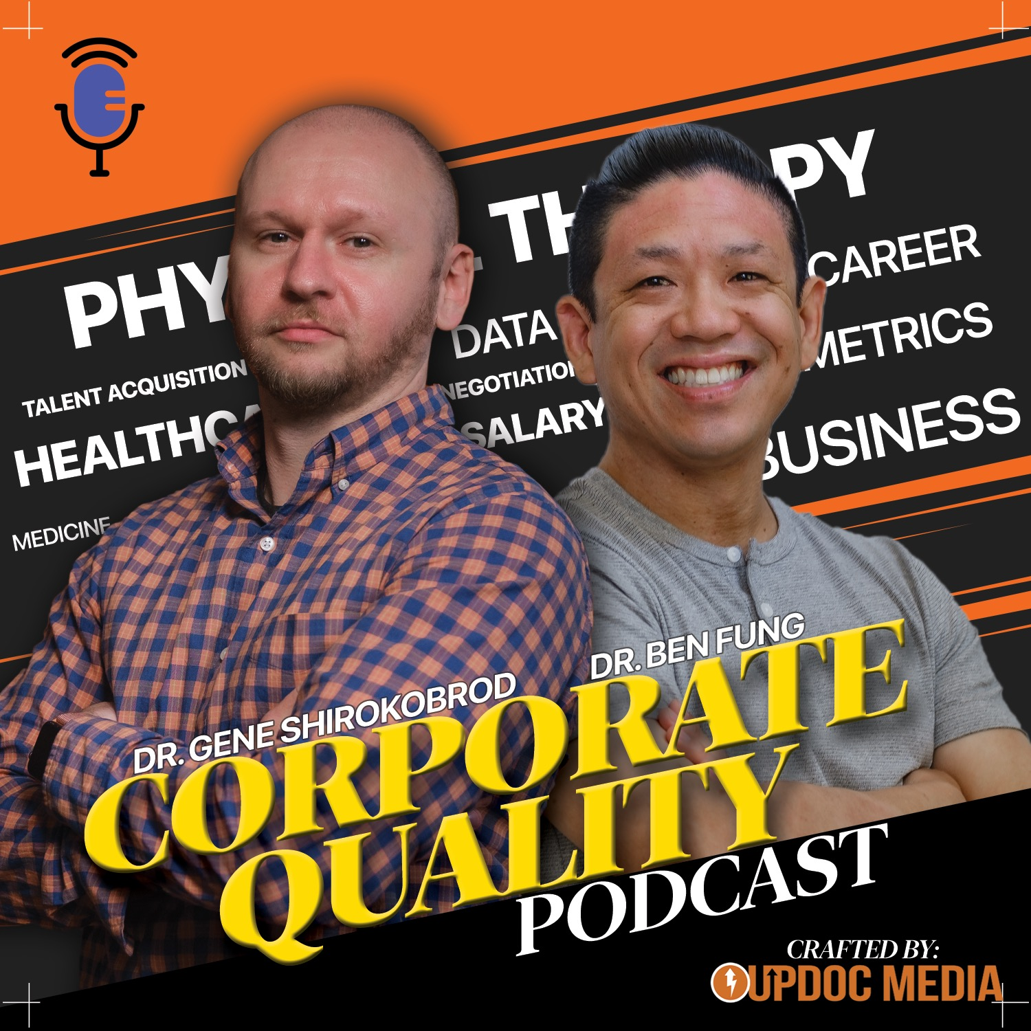 Corporate Quality Podcast by UpDoc Media - Final Cover