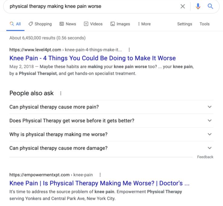 updoc example ranked 1.2 on google